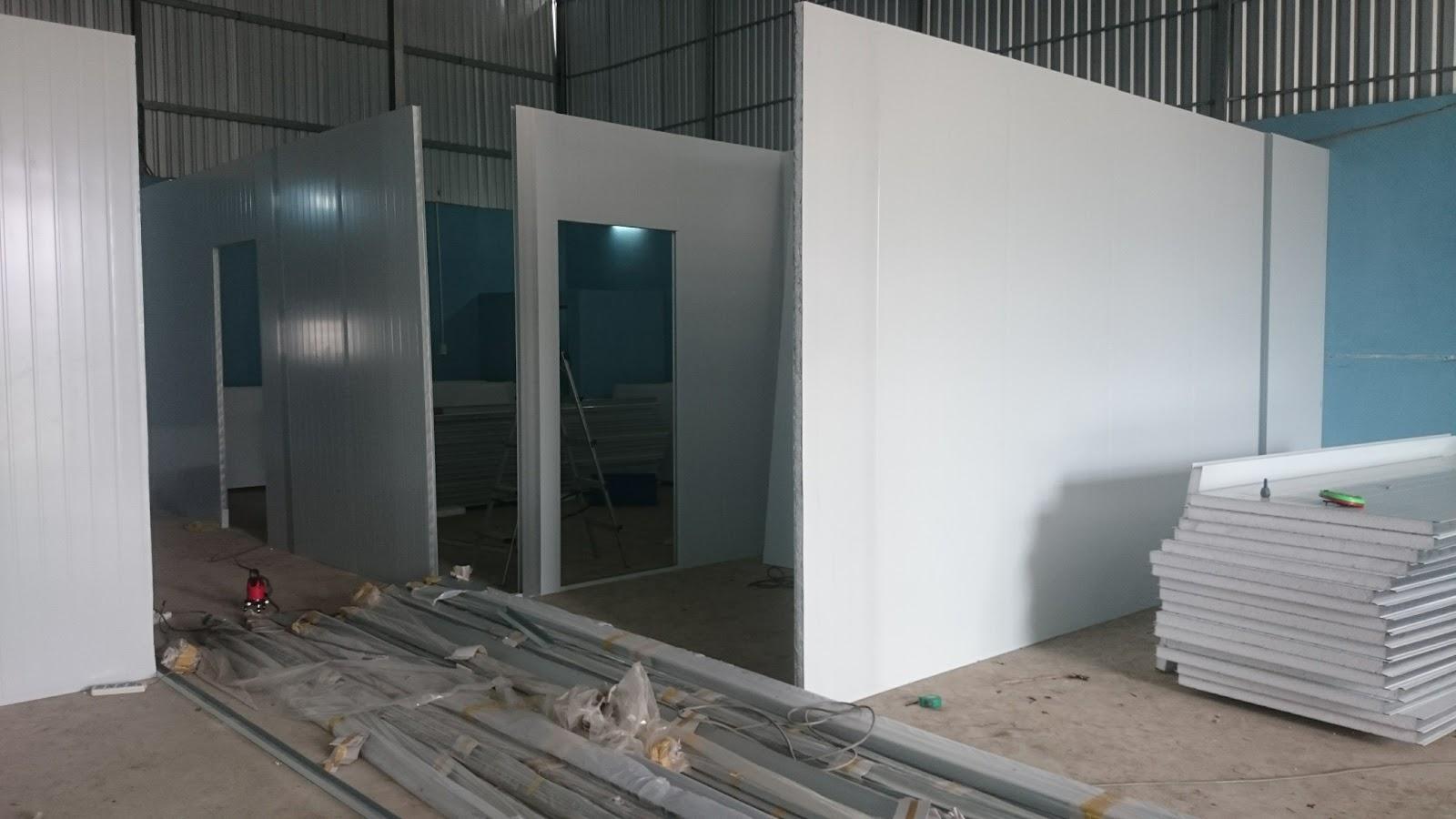 vách ngăn panel nhà xưởng quận Long Biên